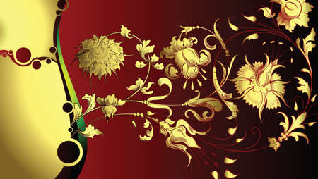 Floral Design Background Vector