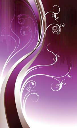 Purple Floral Vector