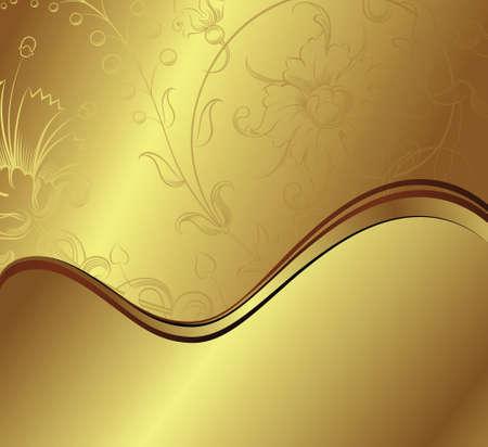 vector waves: Floral Background Illustration