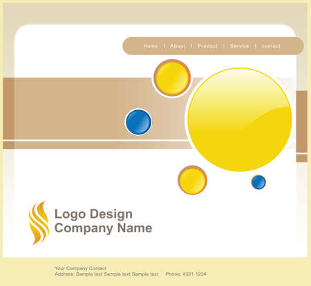 logo and website mainpage background Vector
