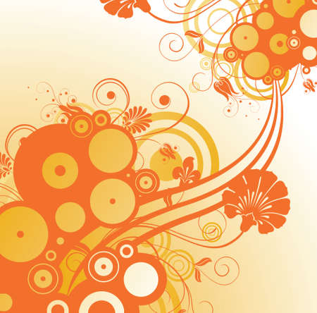 emit: orange flower background