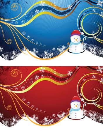 christmas snowman Vector