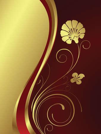 swirly flower Vector