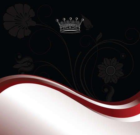 classic background with crown Vector