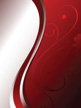 grand design: red floral background Illustration