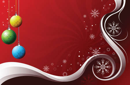 emit: Christmas Ball Background Illustration
