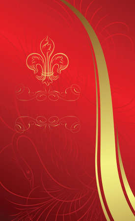 classic design background with emblem Vector
