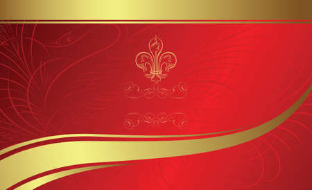 classic design background with emblem Stock Vector - 3544483