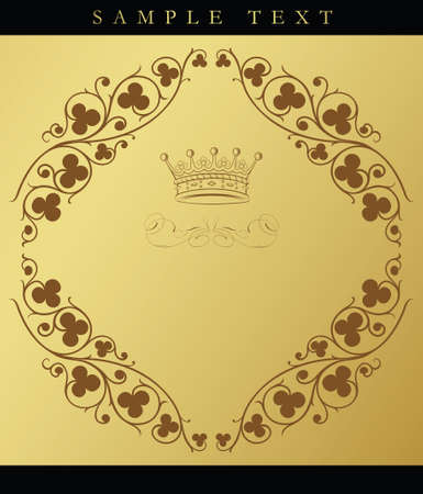 chocolate curls: royal design background
