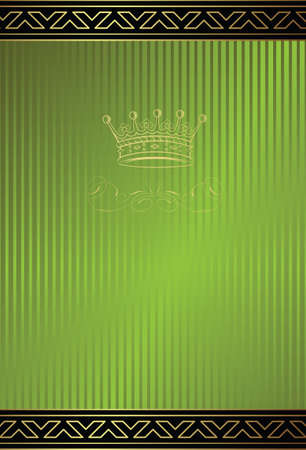 green coupon: royal design background