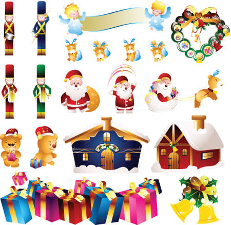 toy soldier: christmas decorations design elements Illustration
