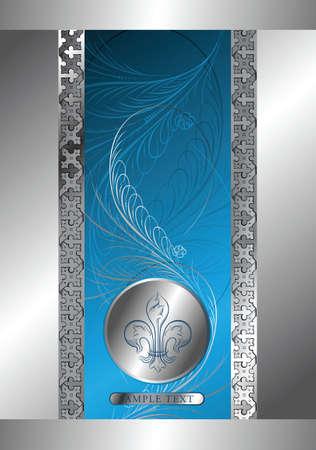 classic design background with emblem Vector Illustration