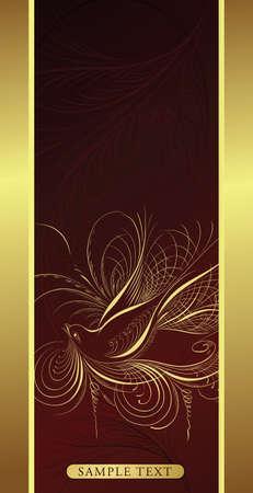 elegant design background with bird Vector