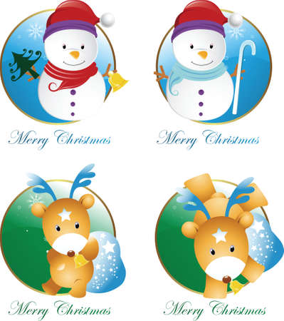 christmas design icons Vector