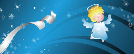 fairy angel banner Vector