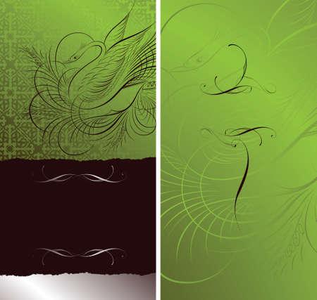 both: party invitation card design (both side-front & back) Illustration