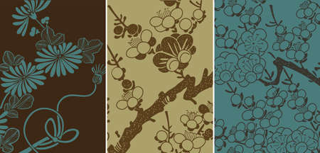 japanese floral background Stock Vector - 3677478