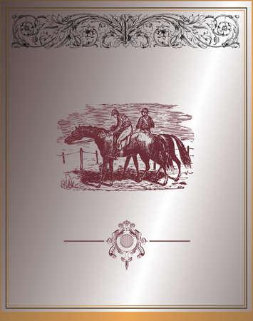 vintage design background Illustration