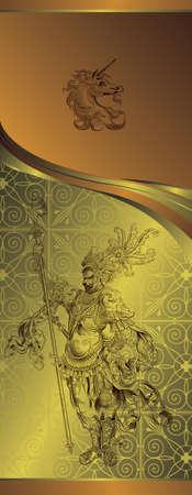 golden design background Stock Vector - 3719468