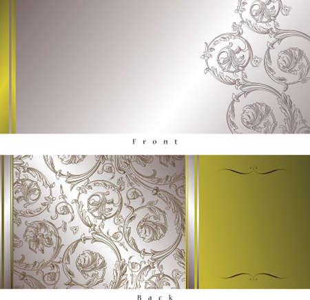 elegant vector: celebrazione carta progettazione (anteriore e posteriore) Vettoriali