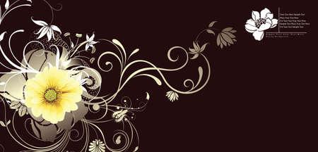floral design background Stock Vector - 3750811