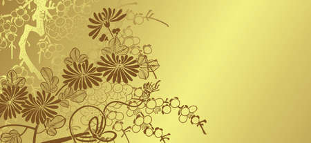 japanese floral background Illustration