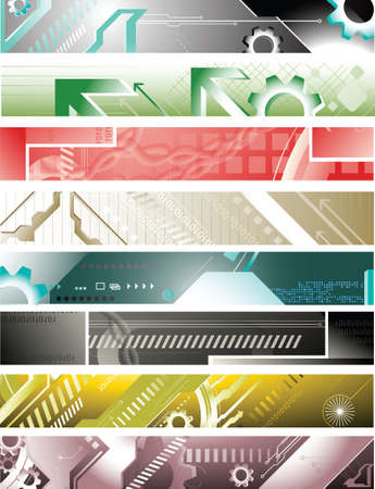 abstract design banners Vector