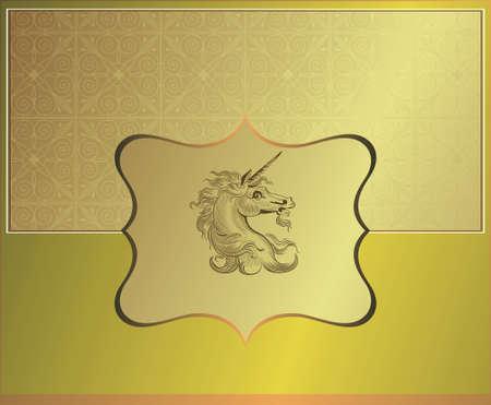 animal logo: vintage design background Illustration