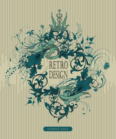 vintage floral design frame  Stock Vector - 3820885