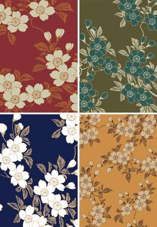 japanese floral background Illustration