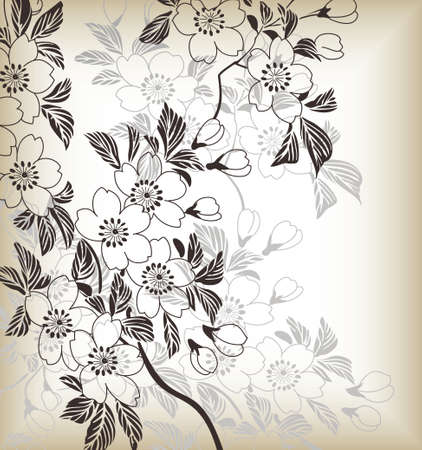 japanese floral pattern Vector