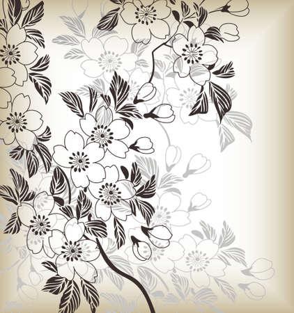 japanese pattern: japanese floral pattern