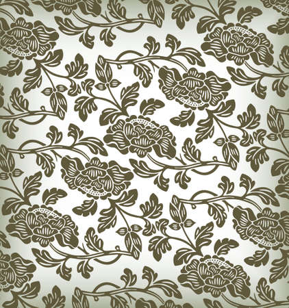 elegant floral pattern Stock Vector - 3868090