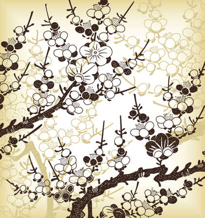 japanese floral background Vector