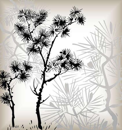 japanese floral background 向量圖像