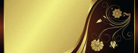 gold swirls: gift certificate Illustration