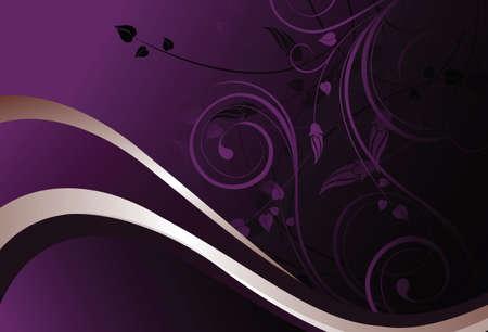 elegant vector: purple floral background