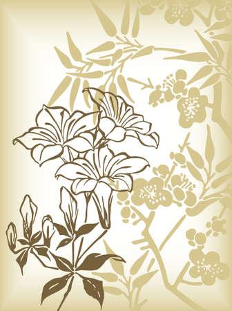 lily flowers: Resumen lirio de flores de fondo