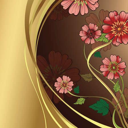 golden daisy: flores de color rosa
