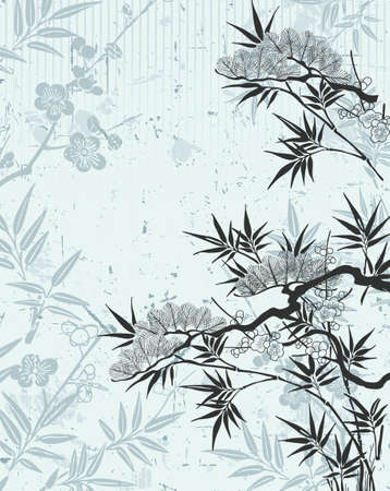 japanese floral Vector