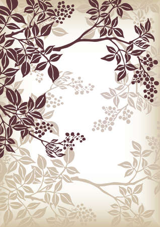 ornaments vector: tree branch pattern