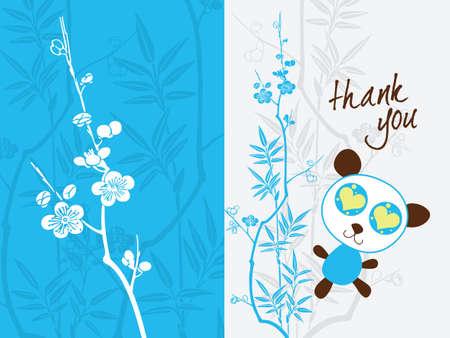 thank you card template Stock Vector - 4386707