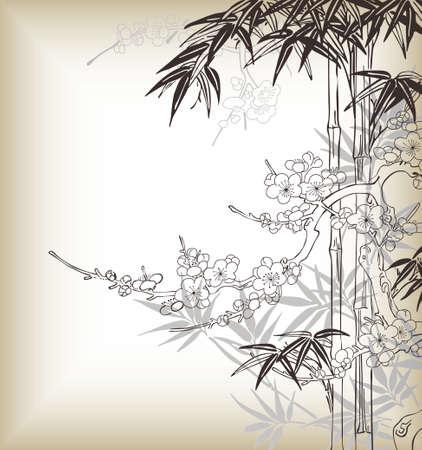 guadua: estilo japon�s y el �rbol de bamb� patr�n