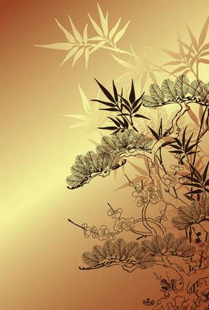 japones bambu: estilo japon�s y el �rbol de bamb� patr�n