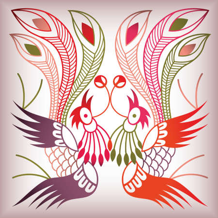 phoenix bird: chinese style bird
