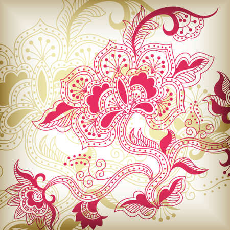 abstract floral H Vector