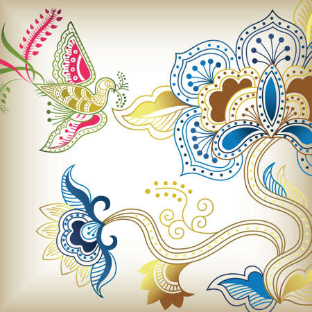 abstract floral C Vector