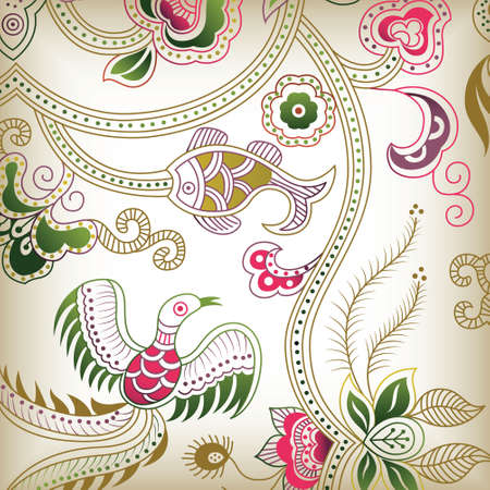 abstract floral B Vector
