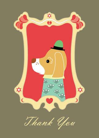 thank you card: thank you card B Illustration