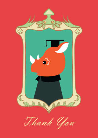thank you card: thank you card F Illustration